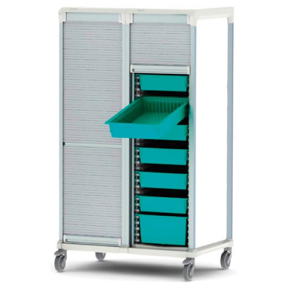 Apollo dirty utility storage cart tambour