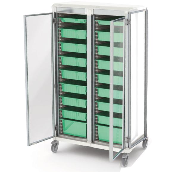 Apollo dirty utility storage cart double