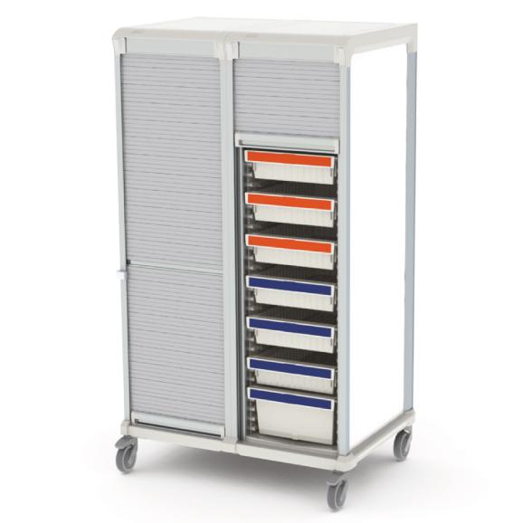 Apollo storage cart - tambour door