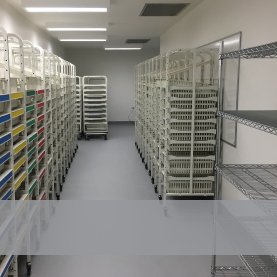 Shelving and storage for Operating Theatres