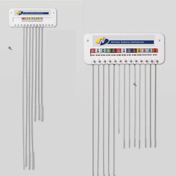 Brush set with wall mount rack