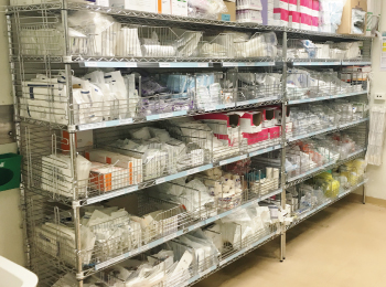 hospital-redevelopment-chrome-wire-static-shelving